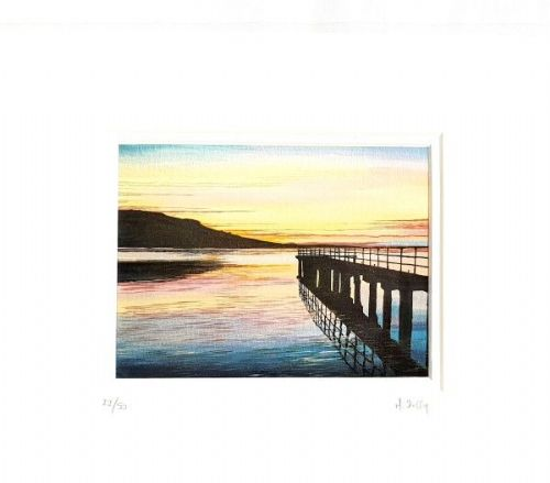 Michelle Duffy The Pier In Garrison Print